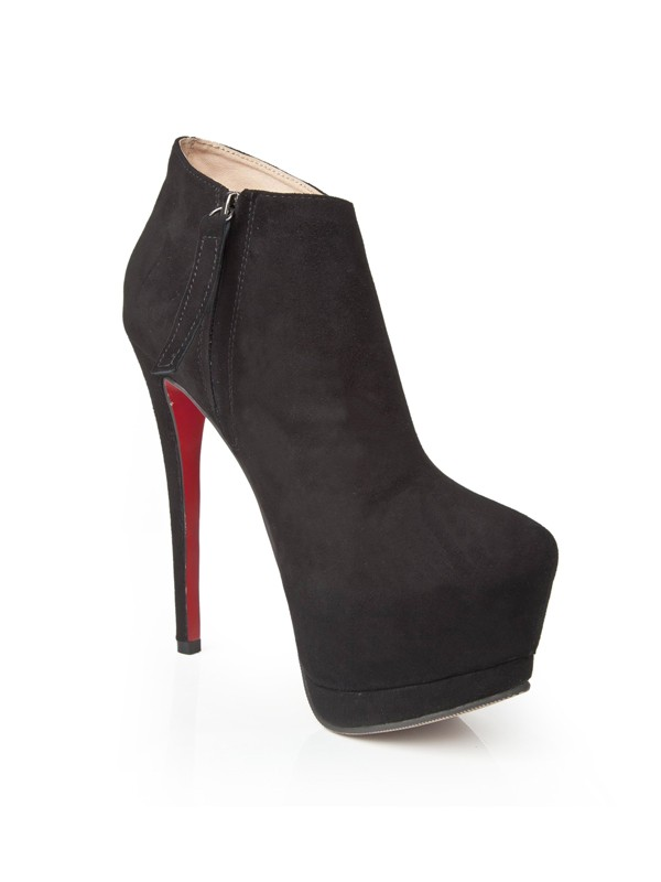 Black Suede High Heels S5LSDN1234LF